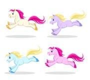 Pony set in motion Stock Image
