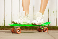 On a pony skateboard Stock Photos