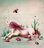Pony Unicorn illustrazione di stock