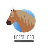 Pony Vector Logo rouge Images libres de droits