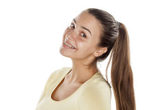 Ponytail and braces Royalty Free Stock Photography