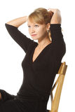 ponytail czarny robi kobieta obrazy royalty free