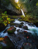 Ponytail Falls With Autumn Foliage Stock Photo