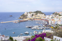 Ponza风景视图 免版税库存图片