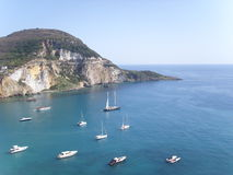 Ponza island. This photo was taken at Ponza in Italy. Ponza is the largest of the Pontine islands. Ponza is a beautiful island. It is located in front of Lazio royalty free stock photos