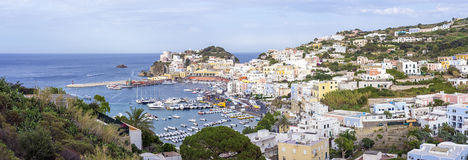 Ponza panoramic view from above. Stock Images