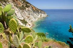 Ponza strand Arkivbild
