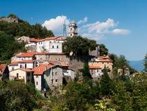 Ponzanello - красивейшее итальянское село, Lunigiana Стоковое Изображение RF
