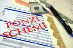 ponzi模式 免版税库存照片