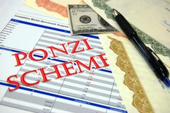 Ponzi Scheme Royalty Free Stock Photos