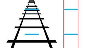 Free Ponzo Illusion, Geometrical Optical Illusion Royalty Free Stock Photos - 120732458