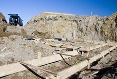 Poço das fundações da casa Foto de Stock