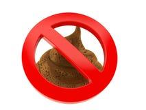 Poo de Dung avec le signe interdit illustration libre de droits