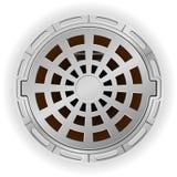 Poço fechado do esgoto com uma ilustração do vetor do portal Fotografia de Stock Royalty Free