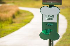 Poo Free Park Sign Stock Photography