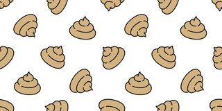 Poo seamless pattern vector toilet scarf isolated dog puppy repeat wallpaper tile background icon Cartoon illustration stock illustration