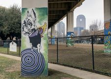 Free Pooch-themed Art In Bark Park Central, Deep Ellum, Texas Royalty Free Stock Images - 110648309