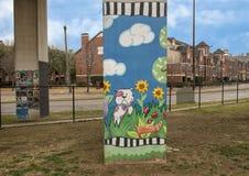 Free Pooch-themed Art In Bark Park Central, Deep Ellum, Texas Stock Images - 110648324