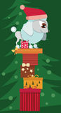Poodle with Christmas presents Royalty Free Stock Images