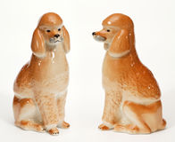 Poodle Dog ceramic figurine Royalty Free Stock Photography