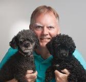 poodles δύο ατόμων Στοκ Εικόνα