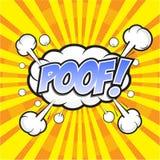 POOF! comic word Stock Photos