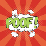 POOF! Wording Sound Effect. For comic speech bubble Royalty Free Stock Image