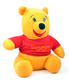 Pooh. Cute pooh on white with clipping path Royalty Free Stock Photo