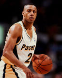Pooh Richardson, Indiana Pacers. Indiana Pacers Pooh Richardson #24. (Image taken from the color negative Royalty Free Stock Images