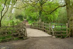 Pooh Sticks bridge on the Ashdown Forest Sussex, England. Pooh Sticks bridge made famous by the author A.A. Milne in the Winnie the Pooh childrens books, located Stock Photography
