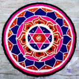 Pooja hindú de la mandala imagenes de archivo