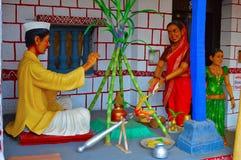Pooja indù, museo della scultura, per la matematica di Kaneri, Kolhapur, maharashtra Immagini Stock Libere da Diritti