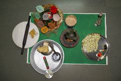 Pooja Preparation Hinduisk förbindelseritual Royaltyfri Fotografi