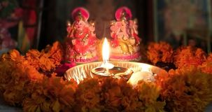 Poojan Lakshmi Royaltyfria Bilder