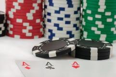 Pook, koninklijke vloed en het gokken spaanders Royalty-vrije Stock Afbeelding