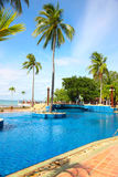 Pool. A swimming pool and resort royalty free stock photography