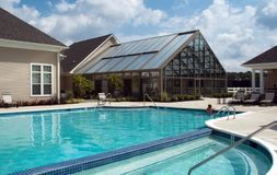 Pool. And side house Stock Photography