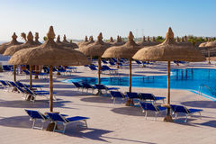 Pool. In some hotel yard in Sharm el Sheikh, Egypt Royalty Free Stock Photo