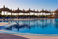 Pool. In some hotel yard in Sharm el Sheikh, Egypt Royalty Free Stock Photography
