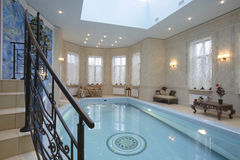 Pool. In a magnificent country house stock photo