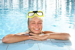 In a Pool Royalty Free Stock Photography