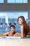 At pool Royalty Free Stock Photo