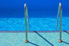 The pool. The swimming pool during the summer day Stock Photo