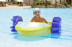 In pool stock photography
