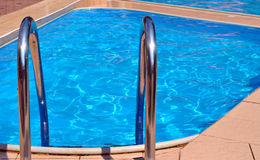 Pool,. Clean, blue, transparent water in pool Royalty Free Stock Photos