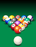 Pool. Vector illustration - background with pool balls Stock Image