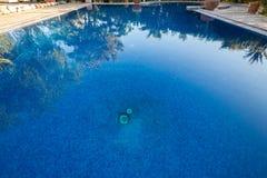 Riad garden reflection on swimming pool. Riad garden reflecting on a swimming pool Stock Images