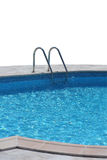 Pool. Swimming pool with clear blue watter isolated stock photos