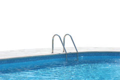 Pool. Swimming pool with clear blue watter isolated royalty free stock photography