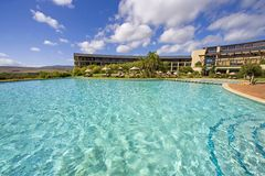 Pool. Swimming pool in south african resort Stock Photo